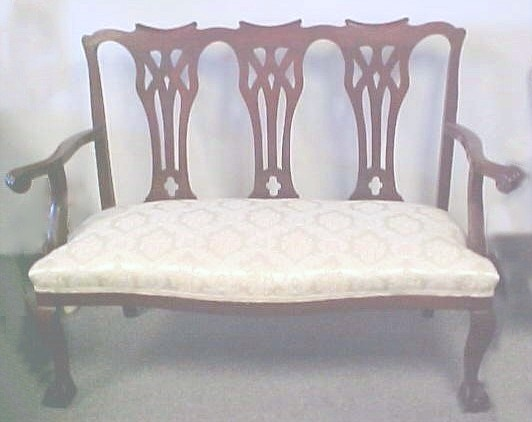 TURN-OF-THE-CENTURY TRIPLE CHAIR SETTEE