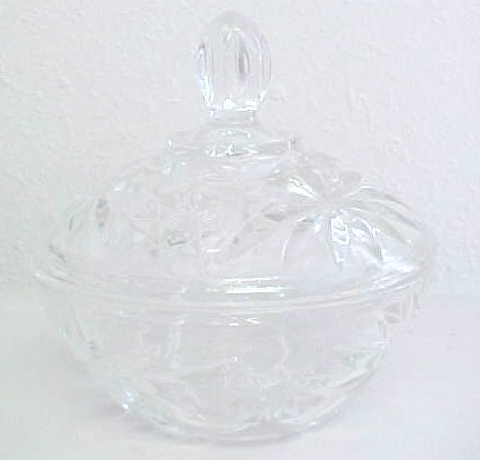 GLASS CANDY DISH WITH LID