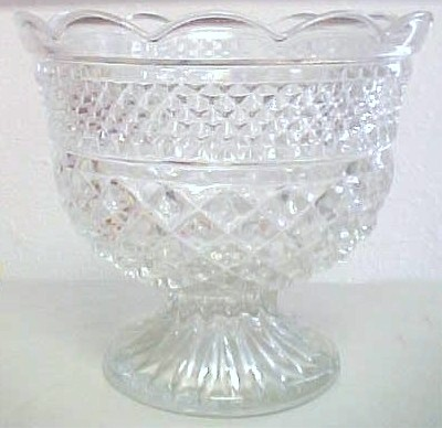 LEADED PRESSED GLASS BOWL