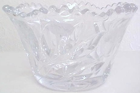 LEAD CRYSTAL GLASS CANDY DISH